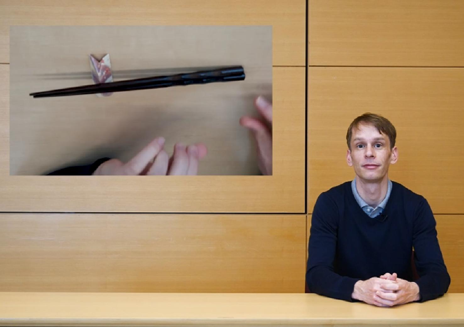 Handling chopsticks