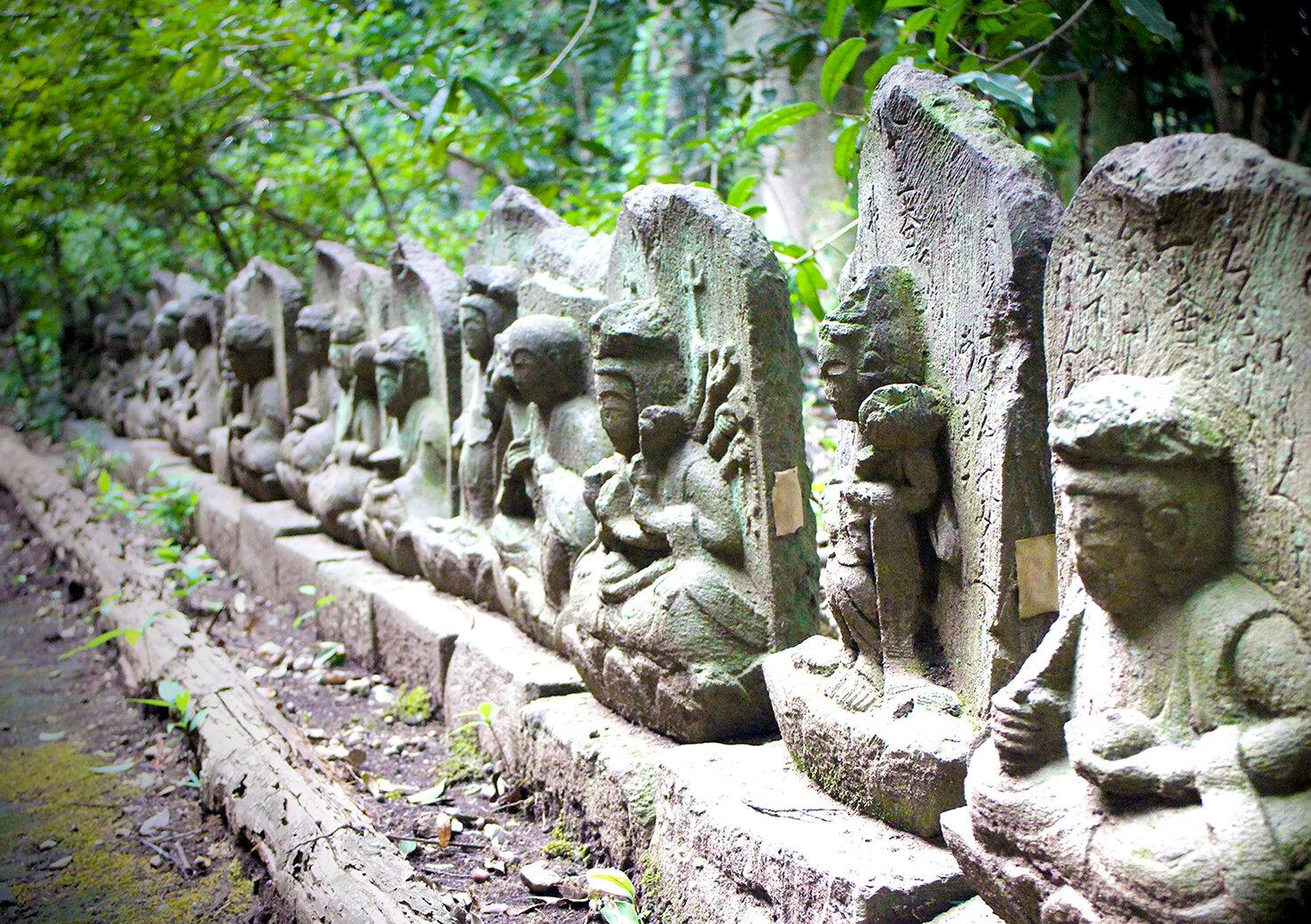 庭園、小川、石仏...、国分寺の自然と歴史を散策する